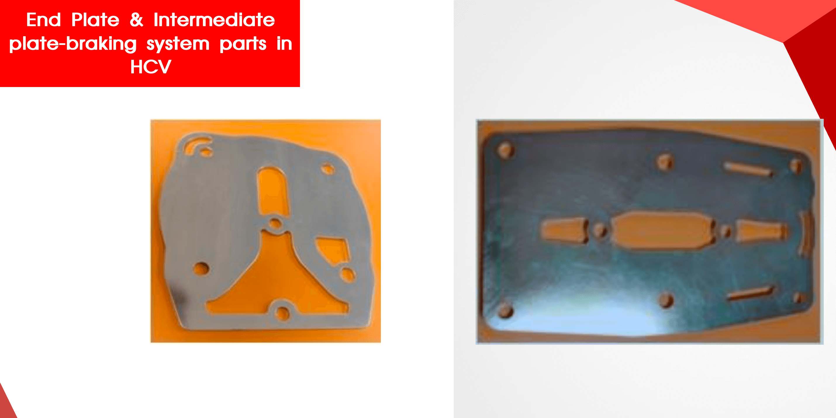 End plate and intermediate plate