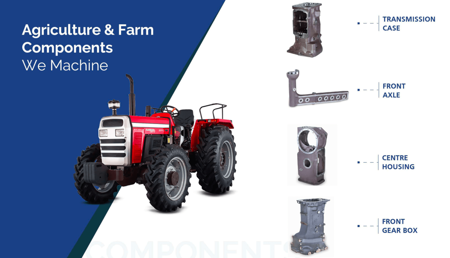 Agriculture and farm components