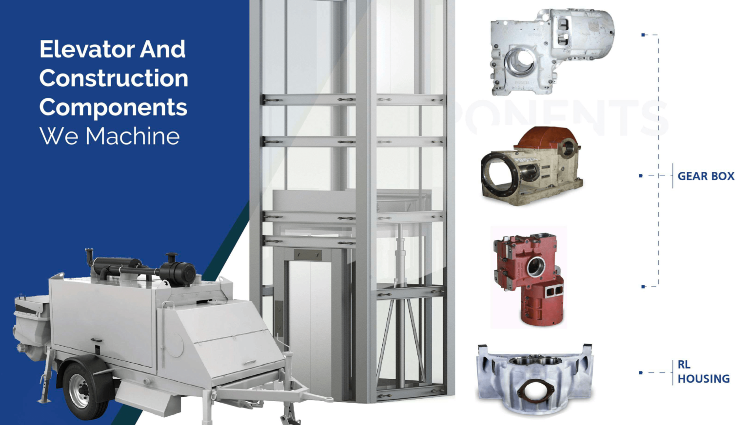 Elevator and construction components
